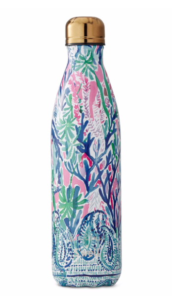 S'well Bottle with Lilly Pulitzer Print - Jet Stream