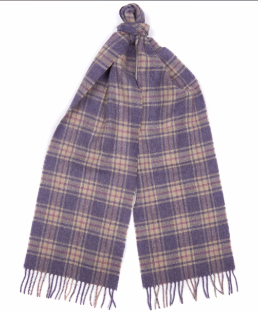 Barbour Brent Scarf - Lilac/Oatmeal