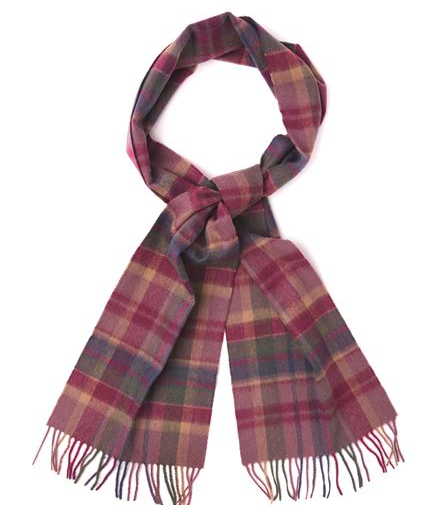 Barbour Vintage Winter Plaid Scarf - Huckleberry