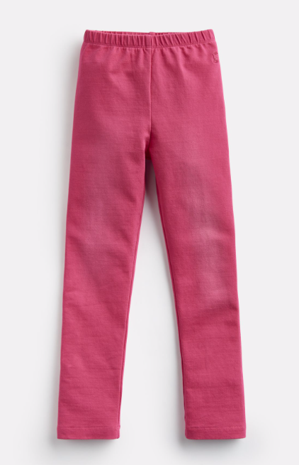 Joules Girl's Minnie Jersey Denim Leggings - Truly Pink