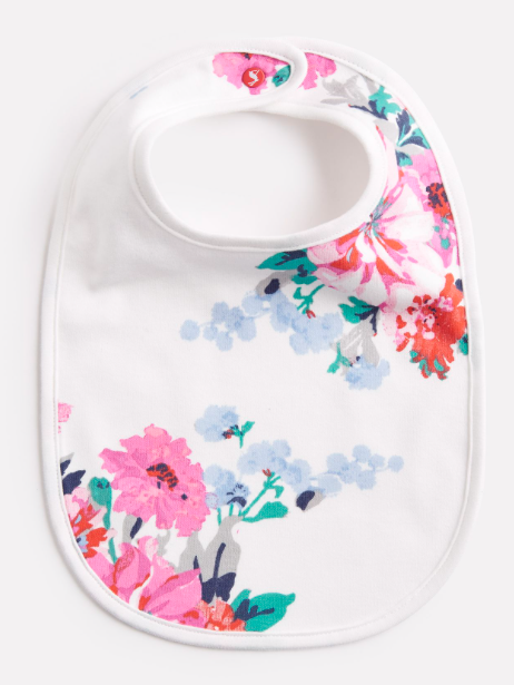 Joules Oops Printed Bib - Small Floral
