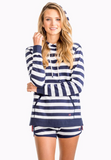 Southern Tide Women's Soleil Striped Hoodie - Nautical Navy