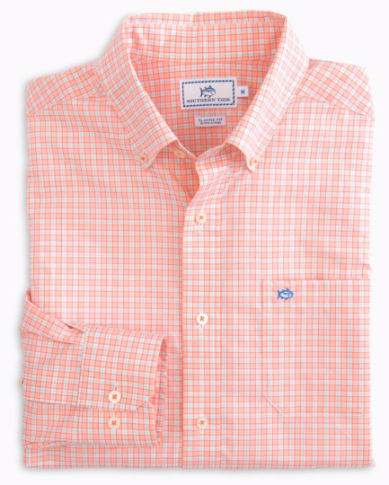 Southern Tide Belmont Estate Check Button Down Shirt - Shell Pink
