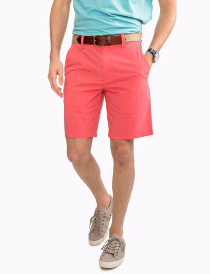 Southern Tide Heather T3 Gulf Short - Rosewood Red