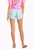 Southern Tide Club Habana Plaid Lounge Short - Aqua Sky