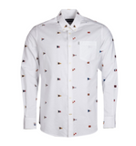 Barbour Oxford Flag Tailored Fit Shirt - White