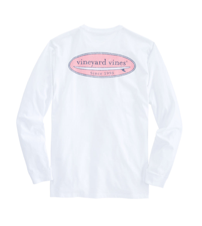 7fb5bb68 ... Vineyard Vines Men's Long-Sleeve Surf Logo T-Shirt - White Cap
