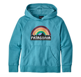 Patagonia Girls' Lightweight Fitz Roy Rainbow Hoody Sweatshirt - Mako Blue
