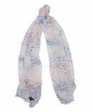 Barbour Shoaling Fish Wrap - Fish Print