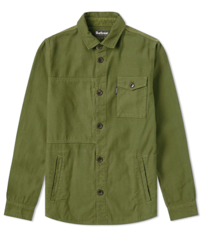 Barbour Seaton Overshirt - Burnt Olive