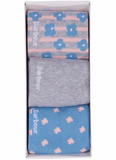 Barbour Women's Mini Floral Sock Gift Set - Blue/Grey