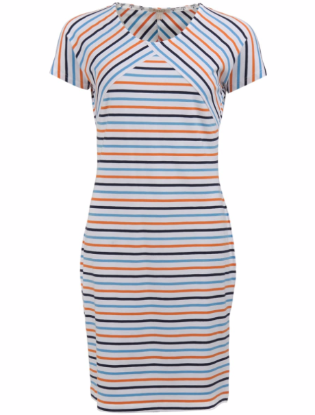 Barbour Littlehampton Dress - White Stripe
