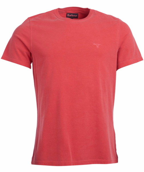Barbour Men's Garment Dyed Tee - Risk Red