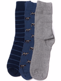 Barbour Men's Pointer Sock Gift Set - Dark Chambray