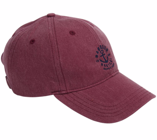 Barbour Men's Nautical Washed Cap - Ruby