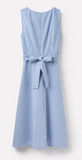 Joules Fiona Sleeveless Woven Dress - Blue Gingham