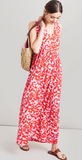 Joules Anastasia Sleeveless Maxi Dress - Pink Petals