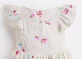 Joules Girls Emeline Woven Printed Dress - Fairy Floral