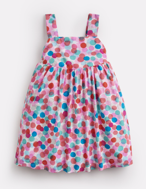 Joules Girls Joy Woven Printed Dress - Fairy Spot