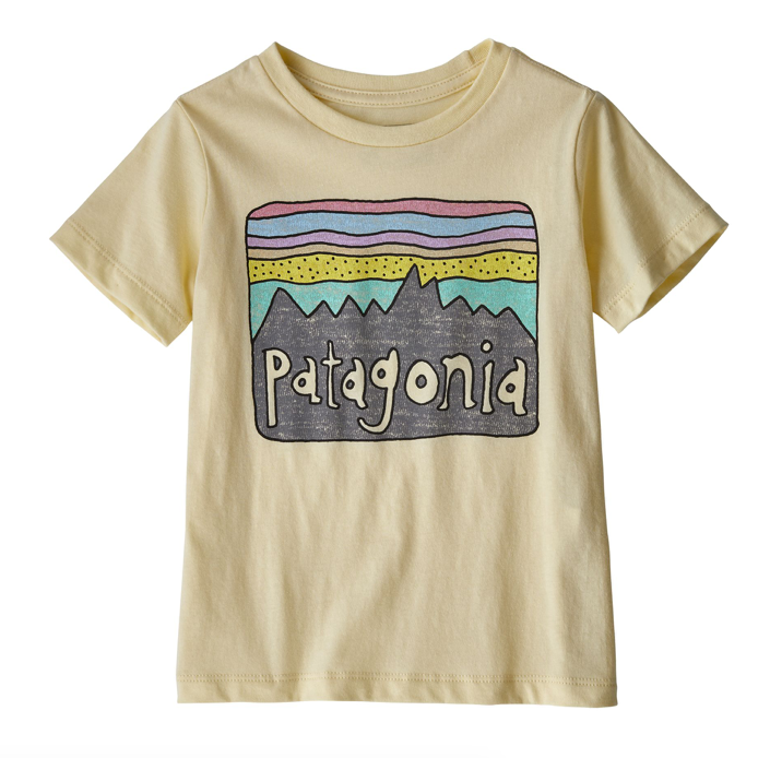 Patagonia Baby Fitz Roy Skies Organic Cotton T-Shirt - Resin Yellow