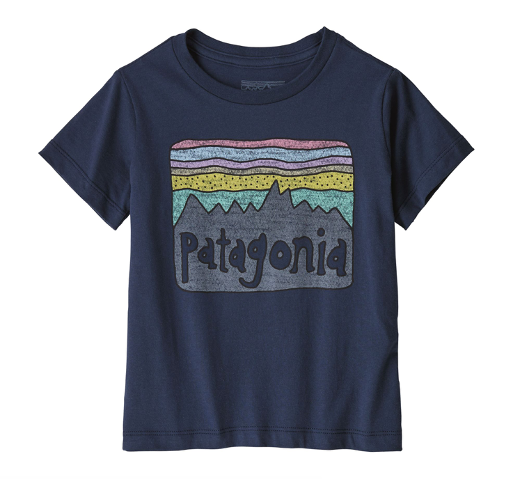 Patagonia Baby Fitz Roy Skies Organic Cotton T-Shirt - New Navy