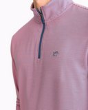 Southern Tide Headway Stripe Performance 1/4 Zip Pullover - Georgia Peach