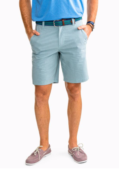Southern Tide T3 Striped Gulf Short - Offshore Green