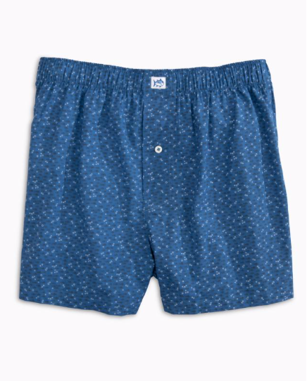 Southern Tide Waterway Boxer Short - Pompeii Blue