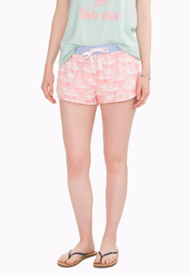 Southern Tide Pearl Lagoon Knit Lounge Short - Light Pink