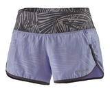 "Patagonia Women's 3½"" Strider Running Shorts - Rain Fern Emboss Light Violet Blue"