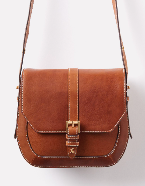 Joules Saddle Leather Bag - Tan