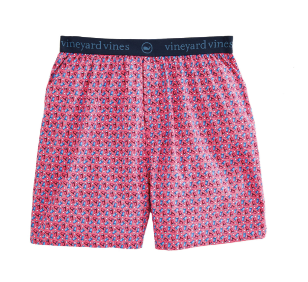 Vineyard Vines Red Cup Printed Boxer - Jetty Red