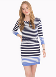 Southern Tide Camille Striped Performance Dress - Nautical Navy