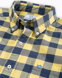 Southern Tide Oxford Buffalo Check Sport Shirt - Sunshine