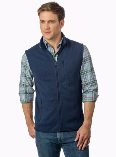 Southern Tide Samson Peak Sweater Fleece Vest - True Navy