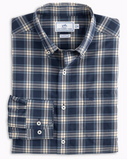 Southern Tide Ord Beach Plaid Button Down Shirt - True Navy