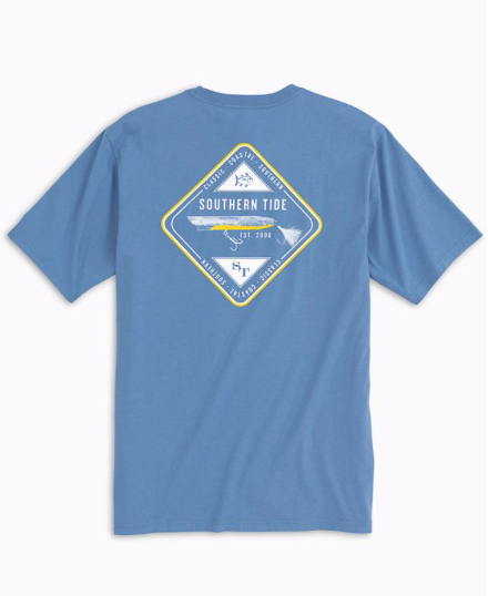 Southern Tide Classic Lures Point Lobos T-Shirt - Endless Blue
