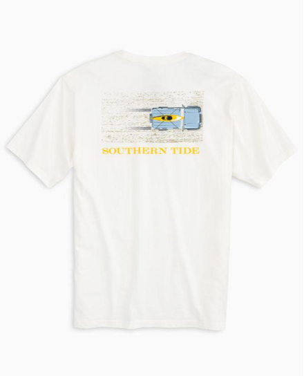 Southern Tide Sand Tire Tracks T-Shirt - Coconut