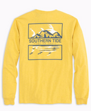Southern Tide Long Sleeve T-3 Skipjack Scene T-Shirt - Heather Naples Yellow