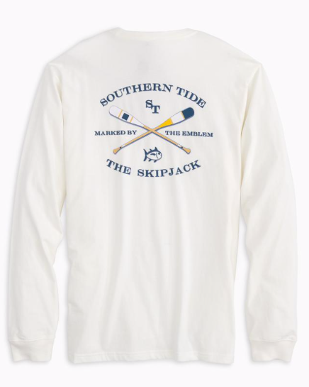 Southern Tide Long Sleeve Southern Tide Oars T-Shirt - Coconut
