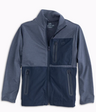 Southern Tide Boys Sea Foam Performance Zip Up Jacket - Seven Seas Blue