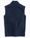 Southern Tide Boys Samson Peak Fleece Vest - Heather True Navy