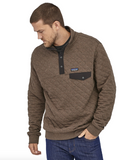 Patagonia Men's Organic Cotton Quilt Snap-T® Pullover - Logwood Brown
