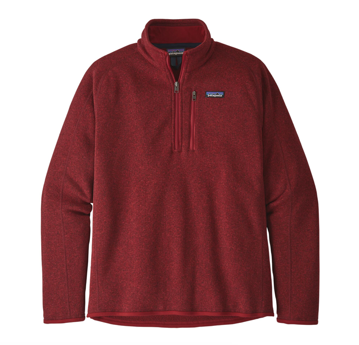 Patagonia Men's Better Sweater® 1/4-Zip Fleece - Molten Lava