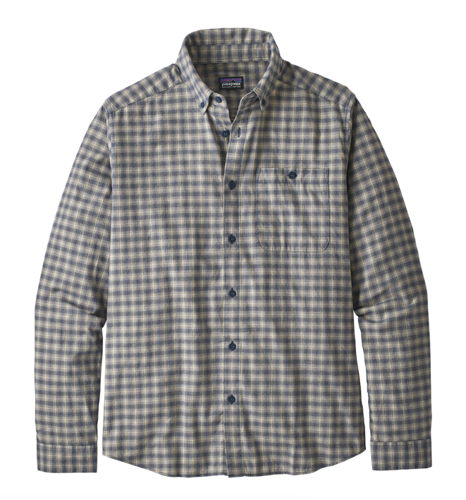 Patagonia Men's Long-Sleeved Vjosa River Pima Cotton Shirt - Aware Ombre Stone Blue