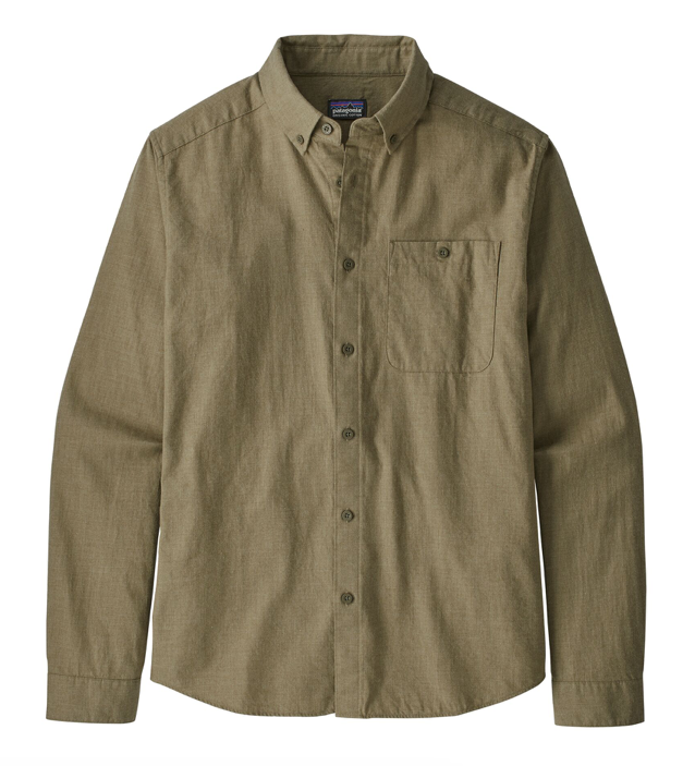 Patagonia Men's Long-Sleeved Vjosa River Pima Cotton Shirt - Sage Khaki