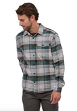 Patagonia Men's Long-Sleeved Lightweight Fjord Flannel Shirt - Buttes Tailored Grey