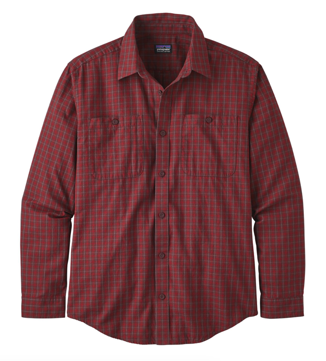 Patagonia Men's Long-Sleeved Organic Pima Cotton Shirt - Prime Molten Lava