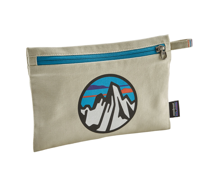 Patagonia Zippered Pouch - Fitz Roy Scope Icon Bleached Stone