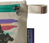 Patagonia Small Zippered Pouch - Free Hand Fitz Roy Bleached Stone